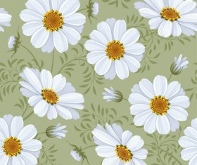 Bright flowers design vector seamless pattern 04