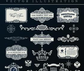 Calligraphic decor vintage elements vector 04
