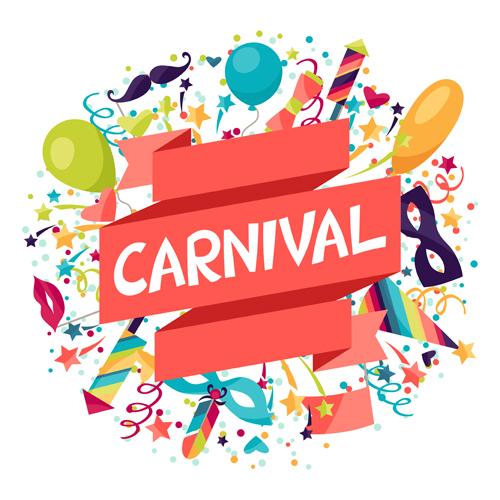 Carnival confetti art background vector 01