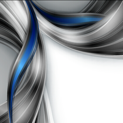 Chrome wave with abstract background vector 11