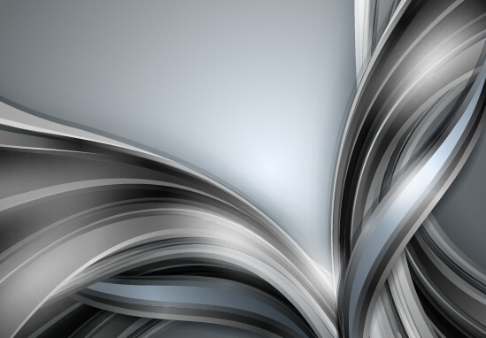 Chrome wave with abstract background vector 12