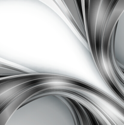 Chrome wave with abstract background vector 16