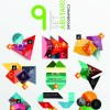 Colored origami infographic elements illustration vector 08