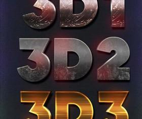 Creative Lakose 3D Text Styles