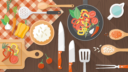 creative cooking design background vectors 03 vector