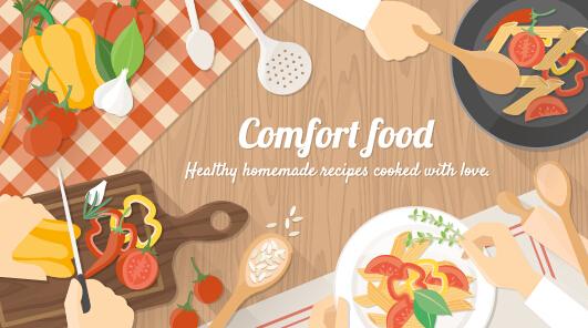 Creative cooking design background vectors 06