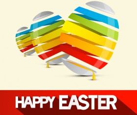Creative happy easter egg vector backgrounds 01