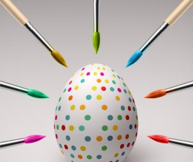 Creative happy easter egg vector backgrounds 02