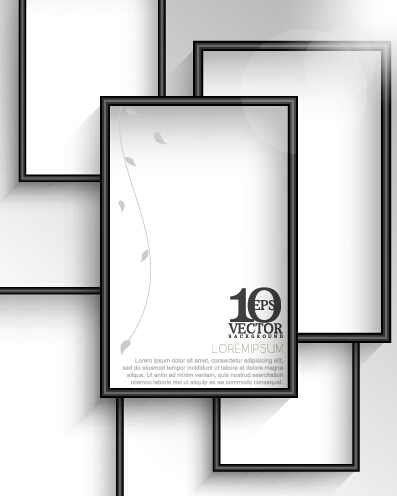 Creative photo frame vector background 01 free download