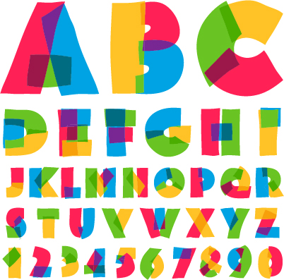 Cute colored alphabet and numbers vector vector font free download cute colored alphabet and numbers vector altavistaventures Images