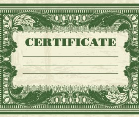 Certificate template vector for free download dark green certificate template vectors 01 yadclub Images