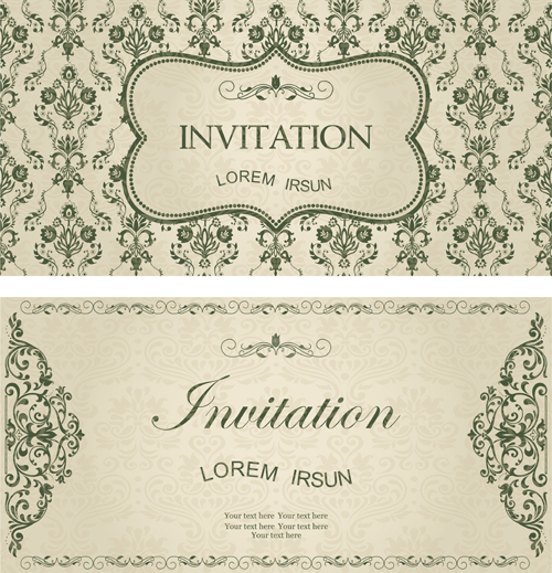 Dark green floral vintage invitation cards vector 10 free download dark green floral vintage invitation cards vector 10 stopboris Choice Image
