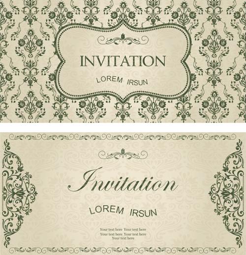 Dark green floral vintage invitation cards vector 10 free download dark green floral vintage invitation cards vector 10 stopboris Choice Image