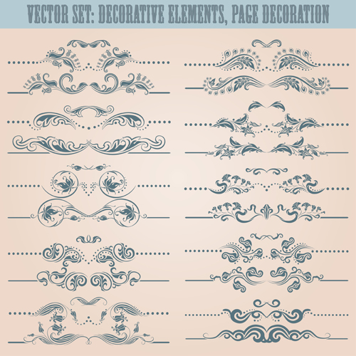 Decorative elements with page decoration vector