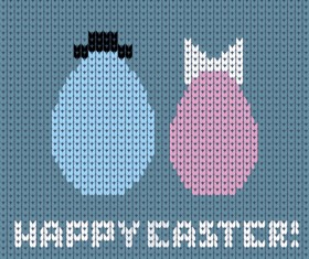 Easter egg with fabric background vector