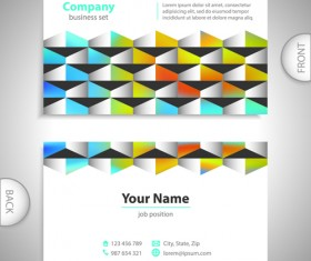 Excellent business cards front back template vector 02