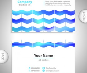 Excellent business cards front back template vector 03
