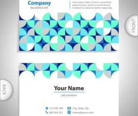 Excellent business cards front back template vector 04