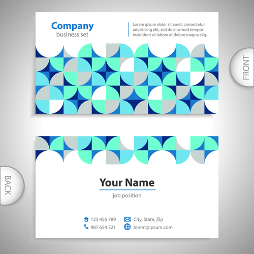 Excellent Business Cards Front Back Template Vector Vector - Front and back business card template