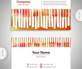 Excellent business cards front back template vector 06