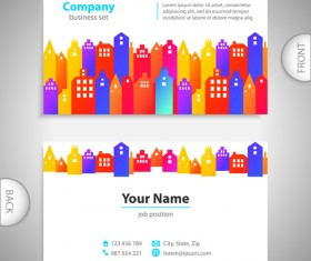 Excellent business cards front back template vector 07