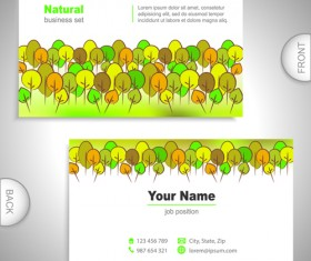 Excellent business cards front back template vector 08
