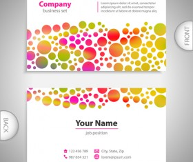 Excellent business cards front back template vector 10