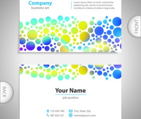 Excellent business cards front back template vector 11