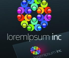 Exquisite business logos vector design elements 06