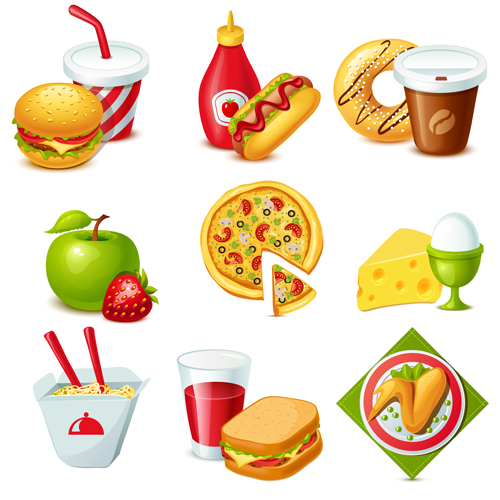 food icon fast drinks icons colorful vectors vector drink royalty eps format