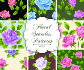 Floral seamless pattern vectors material