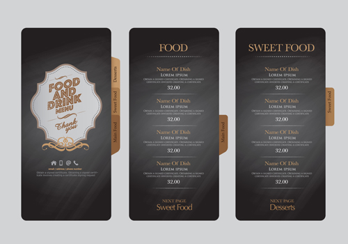 ... and drink menu design creative vector 02 - Vector Cover free download