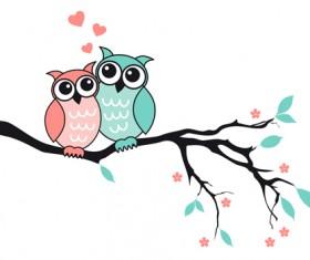 Funny owls design vectors 03