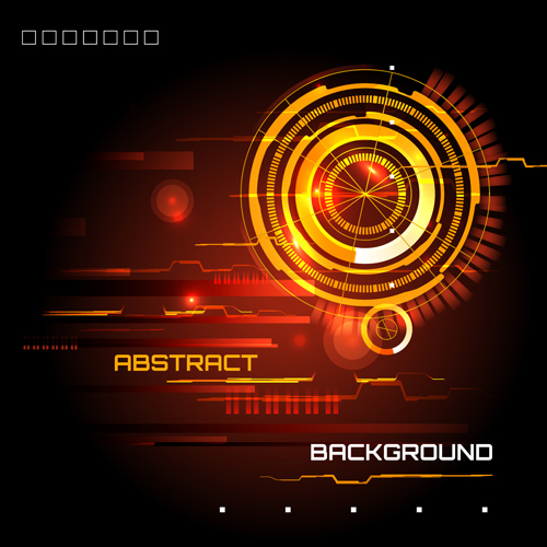 Futuristic tech with abstract background vector 06