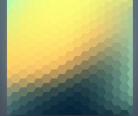 Geometric shapes mosaic background vector set 12