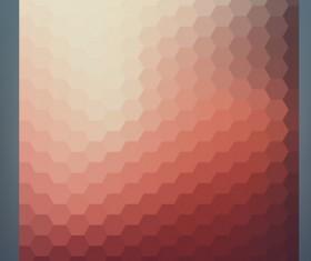 Geometric shapes mosaic background vector set 14