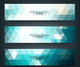 Geometric shapes mosaic vector banners 04