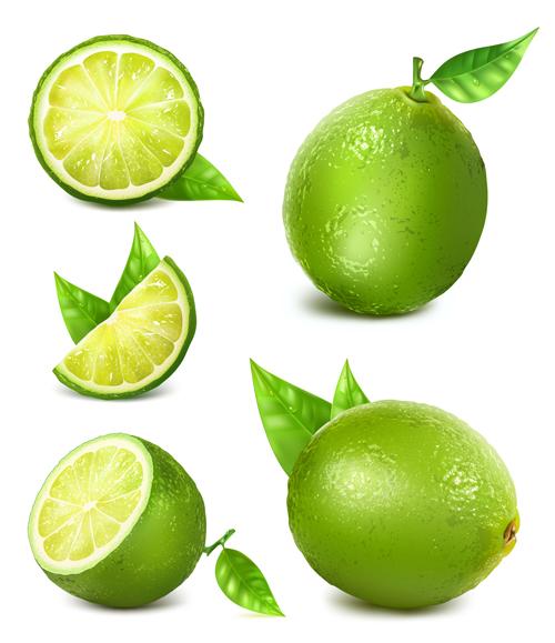 green lemon vector material vector food free download