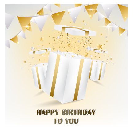 Happy Birthday Gift Card Vector Design Free Download