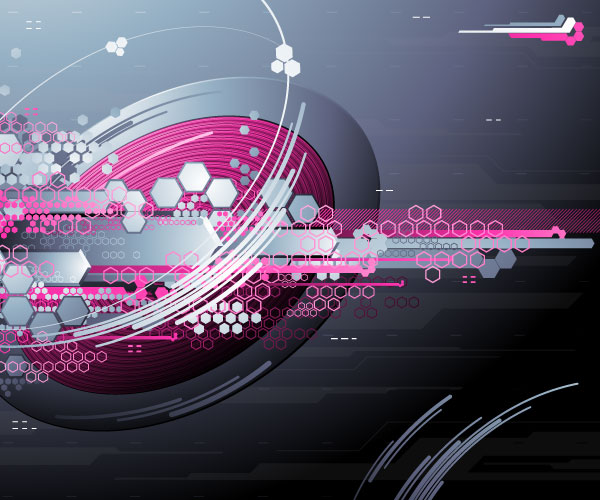 High tech elements concept background - Vector Background ...