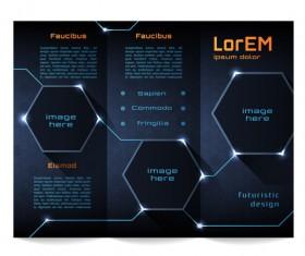 High tech styles brochure templates vector 04
