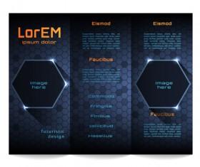 High tech styles brochure templates vector 05