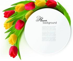 Holidays tulips creative background vectors 01