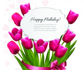 Holidays tulips creative background vectors 03