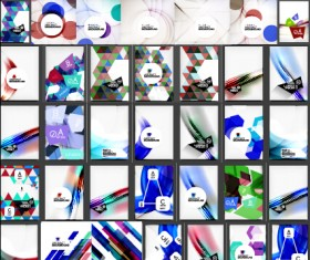 Huge collection modern abstract backgrounds vectors 05