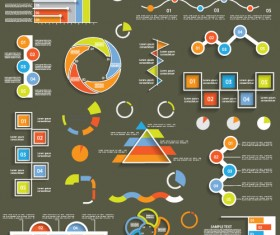 Infographic with diagrams elements design illustration vector 07