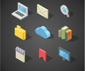 Isometric icons flat vector design 06