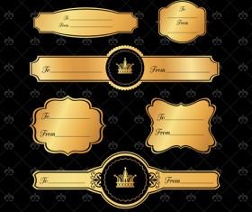 Luxury crown banners vector 01
