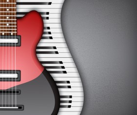 Modern musical Instruments backgrounds vector 02