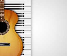 Modern musical Instruments backgrounds vector 03
